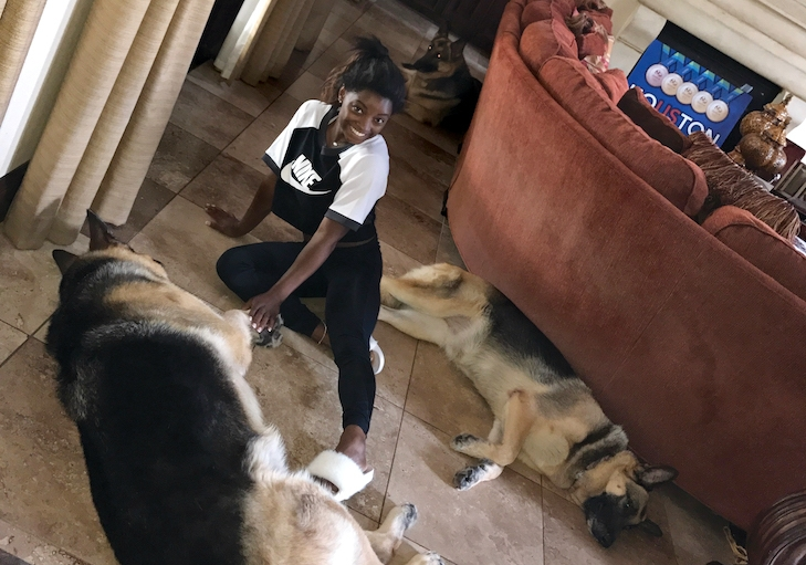Simone Biles on How Her Dogs Help Her Cope With Pressure